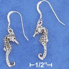 STERLING SILVER ANTIQUED SEAHORSE EARRINGS