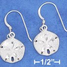 STERLING SILVER SATIN   SANDDOLLAR EARRINGS