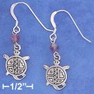 STERLING SILVER ANTIQUED SOUTHWEST TURTLE EARRINGS