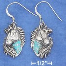 STERLING SILVER FLOWING MANE HORSE HEADEARRINGS \