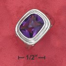 I 7CT RADIANT CHECKERBOARD SYNTHETIC AMETHYST RING