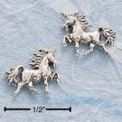STERLING SILVER TROTTING UNICORN POST EARRINGS