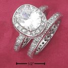 STERLING SILVER 2.5CT CZ SOLATAIRE WEDDING SET