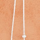 STERLING SILVER CHAIN EAR THREADS W/ BALL AND OPEN TIPPED SQUARE