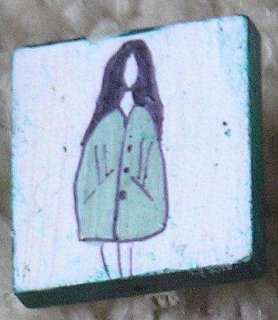 pear girl coat badge