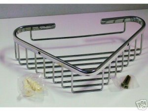 SMALL  shower Basket  for CORNER wall mount