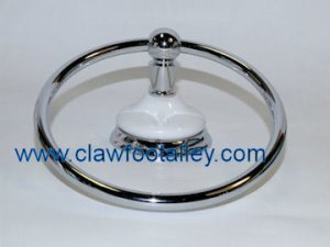 Porcelain Clawfoot Alley Bathroom Collection Towel Ring