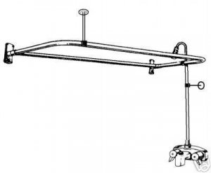 """ADD A SHOWER WITH """"D"""" CURTAIN ROD  54 INCH with drain +"""