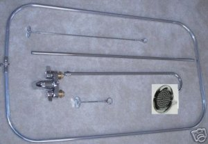 Add-On Shower Unit with curtain rod WITH BELL  HEAD