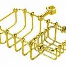 """7"""" Riser Mount Soap Basket Polished Brass"""