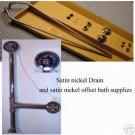 Satin Nickel  Clawfoot tub drain & supplies  EB752