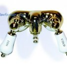 claw foot tub filler/polished brass
