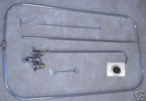 Add-On Shower Unit with curtain rod WITH DAISY  HEAD