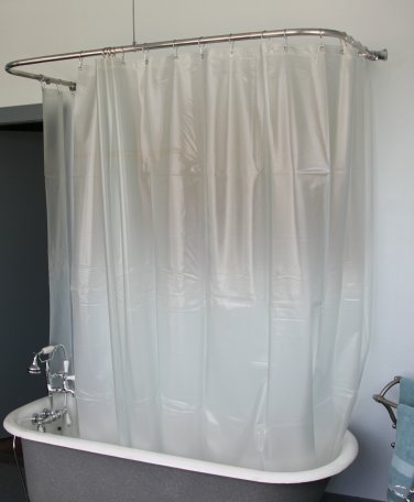 CLAWFOOT SHOWER CURTAIN/OPAQUE LESS MAGNETS