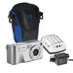 HP Photosmart M417 5MP Camera, Case 4 AA Batteries and Battery Charger