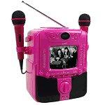 "SuperSonic Dual Mic Karaoke Machine w/5"" B/W Display (Pink)"