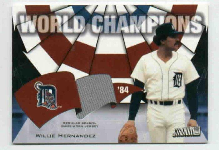 2001 Topps Stadium Club World Champions Willie Hernandez Jersey 84 Detroit Tigers