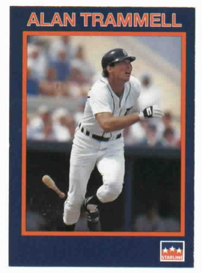 1990 Starline Alan Trammell Oddball Detroit Tigers