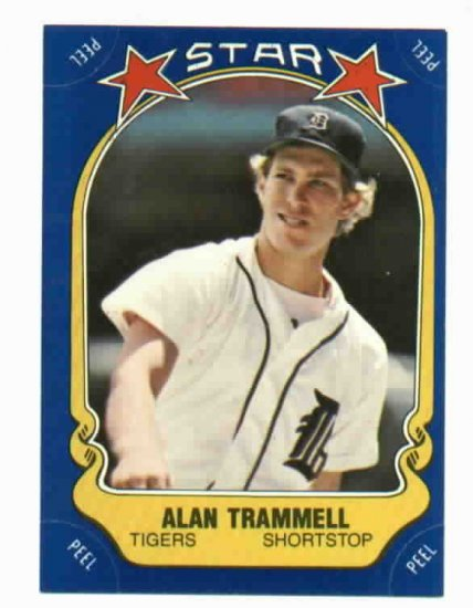 1981 Fleer Star Sticker Alan Trammell Oddball Detroit Tigers
