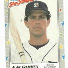 1988 Fleer Star Stickers Alan Trammell Oddball Detroit Tigers