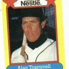 1988 Nestle Alan Trammell Oddball Detroit Tigers Baseball Card