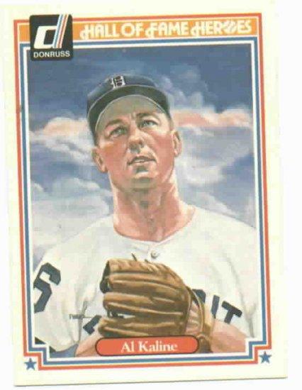 1983 Donruss Hall Of Fame Heroes Al Kaline Detroit Tigers