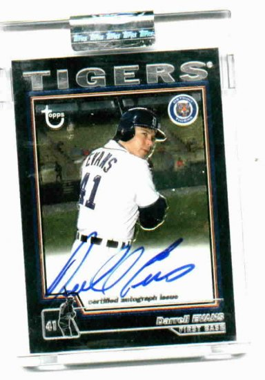2004 Topps Chrome Darrell Evans AUTOGRAPH SEALED Detroit Tigers