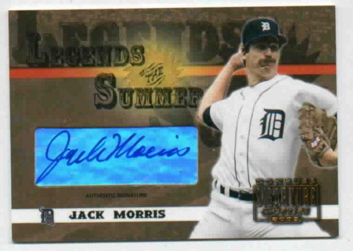 2003 Donruss Sig Series Legends Of Summer Jack Morris AUTOGRAPH Detroit Tigers