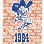 1984 Detroit Tigers Schedule World Series Champs Marathon Oil