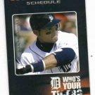 2006 Detroit Tigers Schedule Ivan Rodriguez