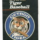 1981 Detroit Tigers Pocket Schedule
