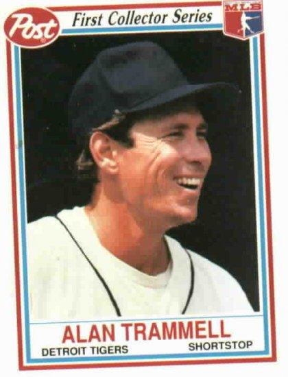 1990 Post  Alan Trammell Baseball Card Oddball Detroit Tigers