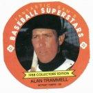 1988 Fantastic Sams Disc Alan Trammell Oddball Detroit Tigers