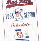 1995 Toledo Mud Hens Pocket Schedule