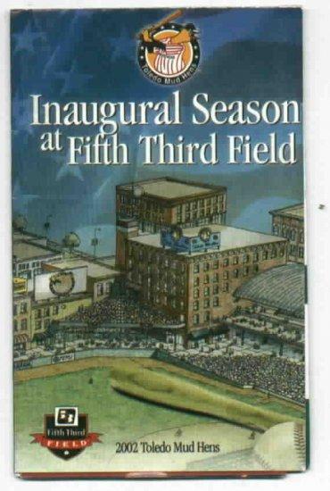2002 Toledo Mud Hens Inagural Season 5/3 Pocket Schedule