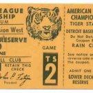 1972 ALCS Detroit Tigers Complete MINT !!!!! Tiger Stadium