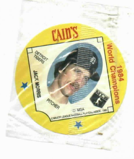 Cains MSA Disc 1984 World Champions Detroit Tigers Jack Morris UNOPENED
