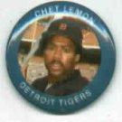 1984 Fun Foods Chet Lemon Pin Detroit Tigers Oddball