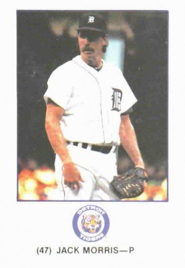1989 Marathon Oil Jack Morris Card Detroit Tigers Oddball
