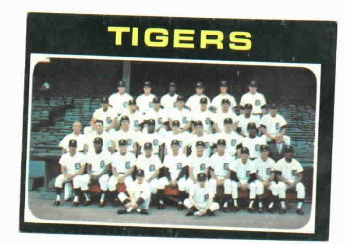 1971 Detroit Tigers Team Card NICE !!!!