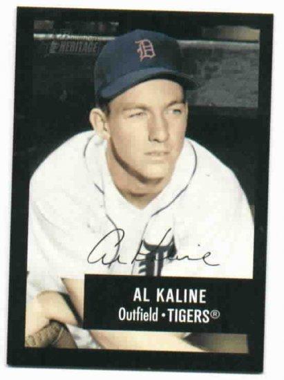 2003 Bowman Heritage Signature Al Kaline Detroit Tigers