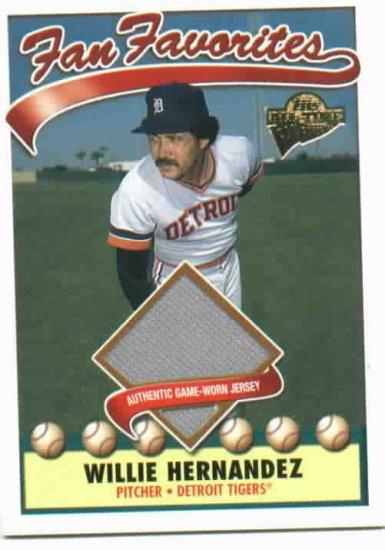 2003 Topps Fan Favorites Willie Hernandez Jersey Card Detroit Tigers