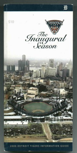 2000 Detroit Tigers Media Guide Inaugural Season Comerica Park