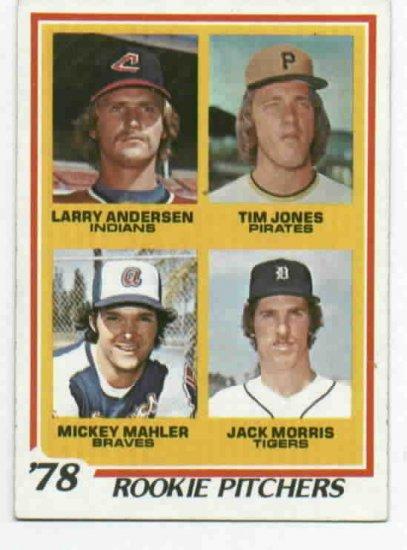 1978 Topps Jack Morris ROOKIE Detroit Tigers