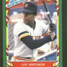 1987 Fleer Star Sticker Lou Whitaker Detroit Tigers