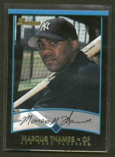 2001 Bowman Draft Picks Marcus Thames ROOKIE !! Detroit Tigers Yankees