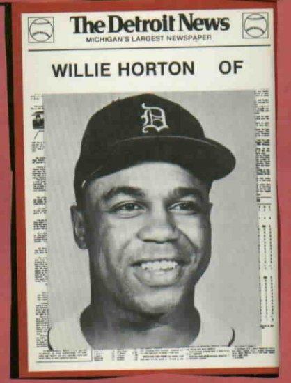 1981 Detroit News Willie Horton Oddball 1968 Tigers