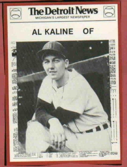 1981 Detroit News Al Kaline Oddball Tigers 1968