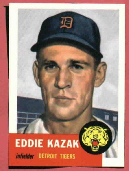 1953 Topps Archives Eddie Kazak Detroit Tigers 1991