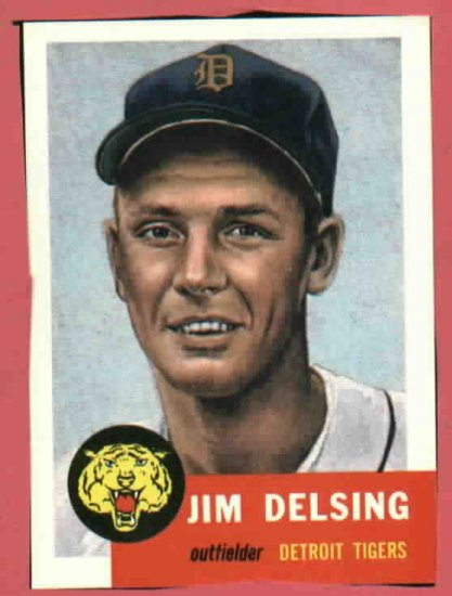 1953 Topps Archives Jim Delsing Detroit Tigers 1991